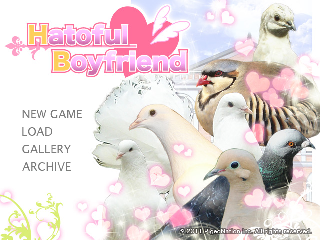 Hatoful Boyfriend start menu