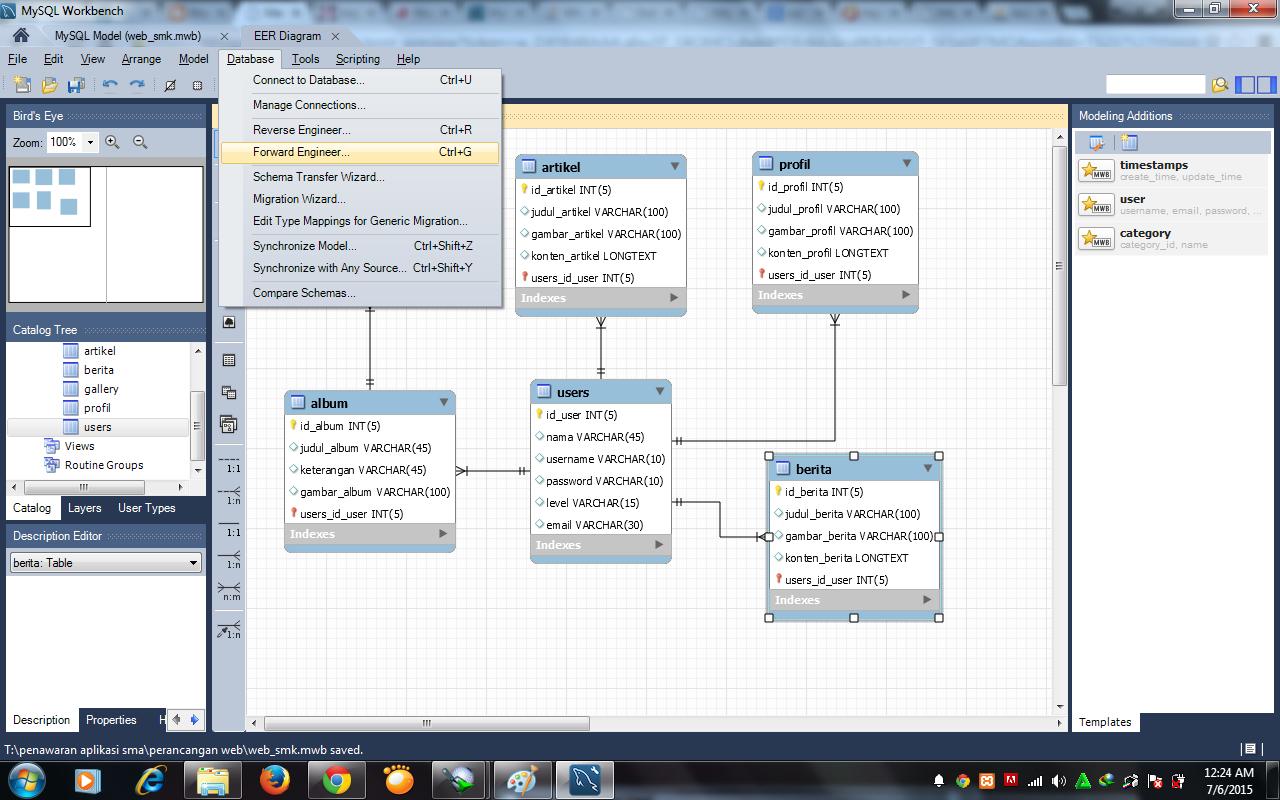Membuat Entity Relationship Diagram Erd Menggunakan Mysql Workbench