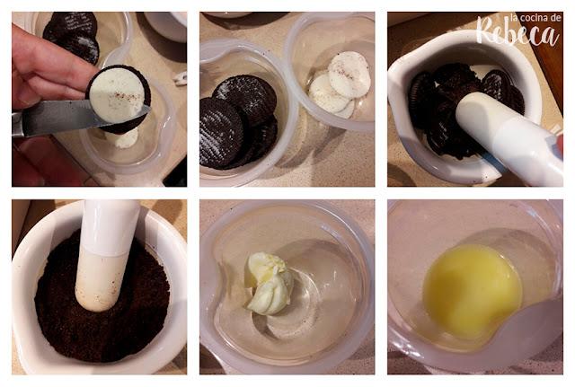 Receta de pasteles helados de galletas Oreo 01
