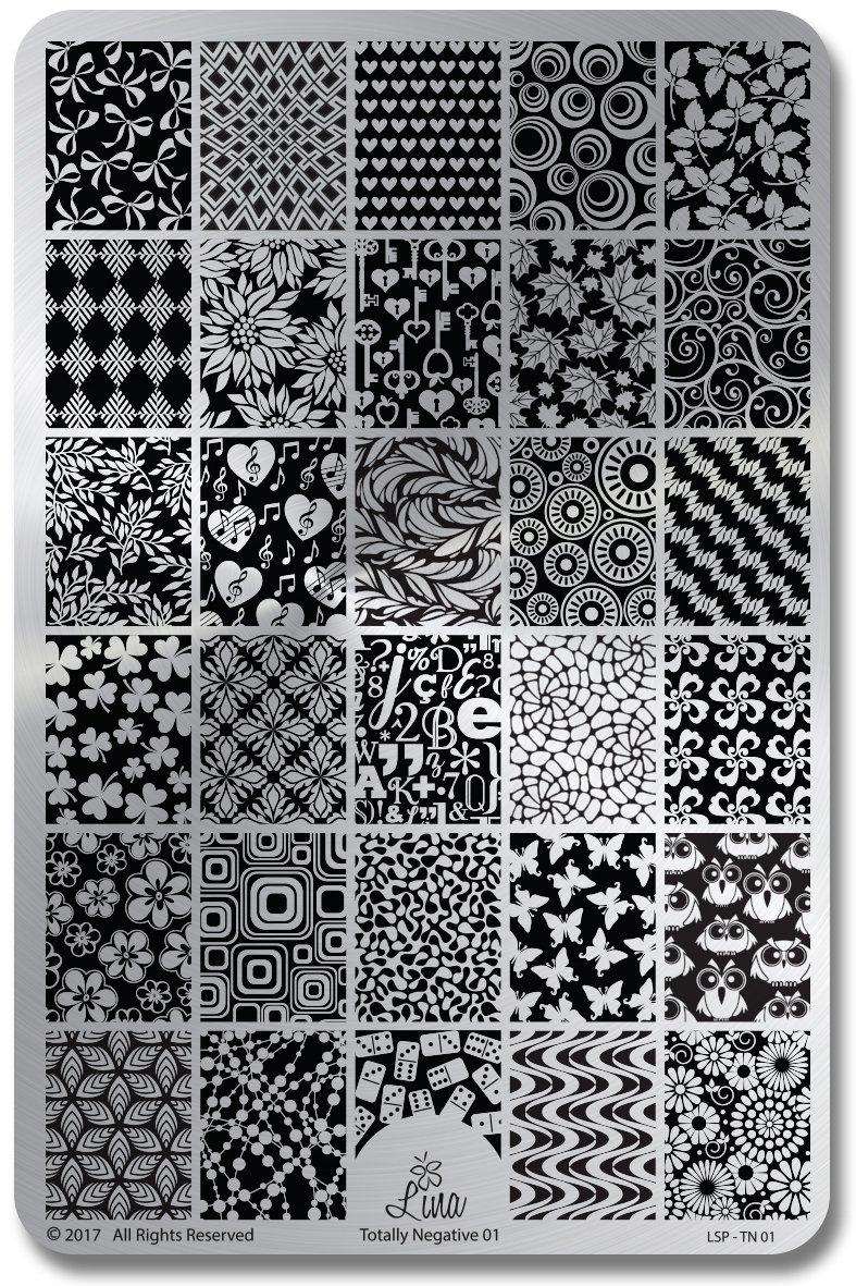 cdbnails: Lina Nail Art Supplies | Totally Negative Plate