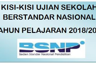 Unduh Kisi - Kisi USBN SD Tahun Pelajaran 2018/2019