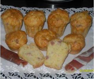 Muffins al prosciutto y queso thermomix