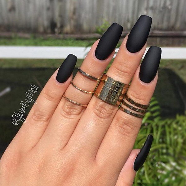 50 pretty matte nail designs pccala pretty matte nail designs you can also use other colors to get matte blue nail designs matte white nail designs matte grey nail designs matte black and prinsesfo Choice Image