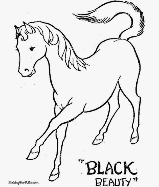 Free Coloring Pictures Horse Coloring Pictures To Print