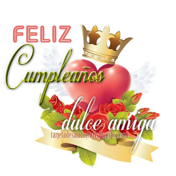 Imagen de feliz cumpleaños para amiga