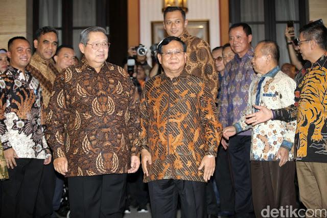 Begini Suasana Pertemuan 4 Mata Prabowo-SBY Lalu Disusul AHY