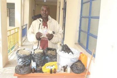 Notorious Indian Hemp Dealer Rabi'u Suleiman Arrested In Katsina