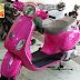 Sơn xe Vespa LX màu hồng nữ tính cực đẹp