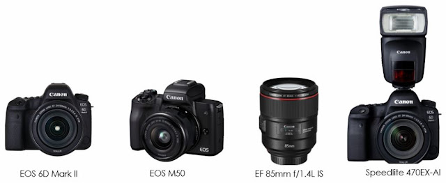 Canon Awarded Four Prestigious 2018 EISA Awards: EOS 6D Mark II named 'EISA DSLR Camera 2018-2019' EOS M50 named 'EISA Best Buy camera 2018-2019' EF 85mm f/1.4L IS USM awarded the 'EISA DSLR prime lens 2018-2019' Speedlite 470EX-AI flash awarded the 'EISA photo innovation 2018-2019'