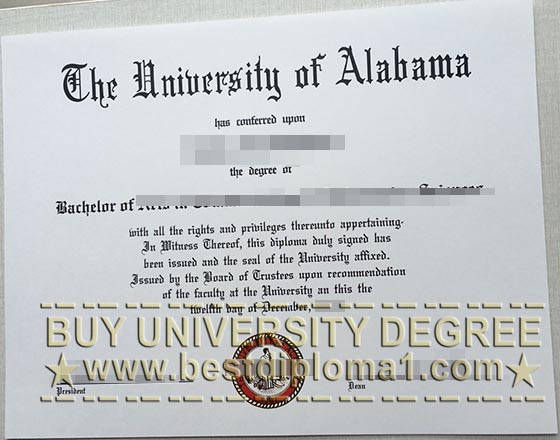 University of Alabama phony diploma