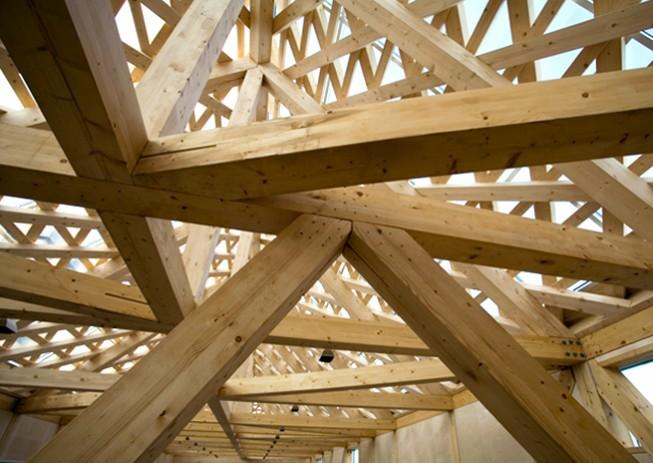 Madera laminada en la arquitectura espacios en madera - Estructura madera laminada ...