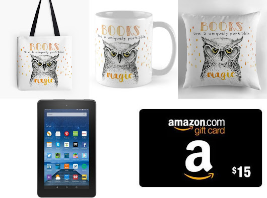 Kindle Fire 7 & Amazon Gift Card and Owl Tote Bag, Mug & Pillow Set Giveaway