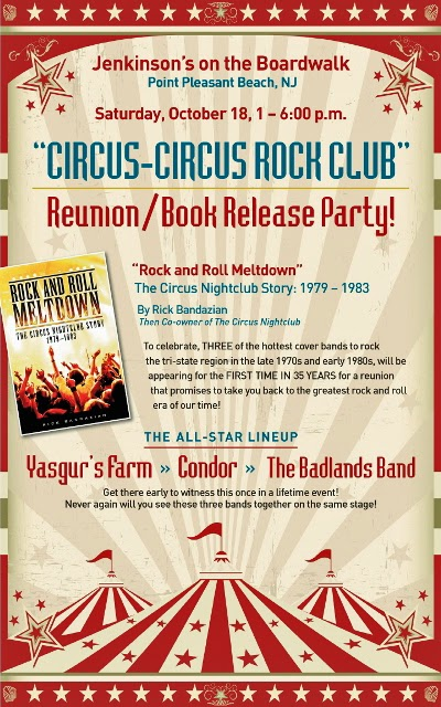 "Book release party by Rick Bandazien ""Rock & Roll Meltdown"" at Jenkinson's"