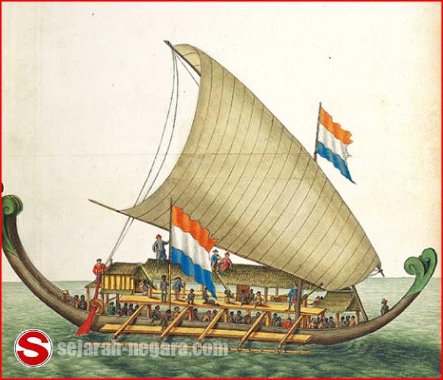 Gambar Kora-kora yang digunakan Belanda pada pelayaran Hongi