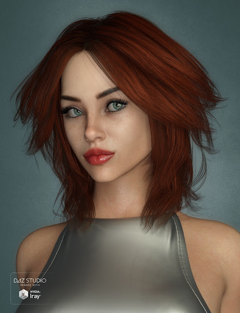 Riona Hair for Genesis 3 and 8 Female