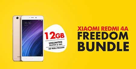 Paket Freedom Bundling 12 GB Rp50.000 Xiaomi Redmi 4A & IM3 Indosat Ooreedoo