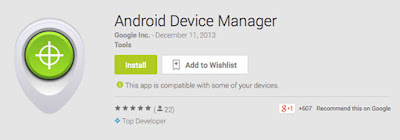 Android Device Manager web