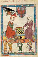 King Otto IV of Brandenburg playing chess with his wife