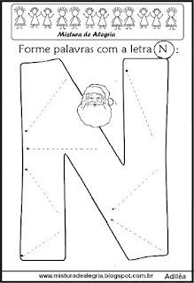 Formar palavras letra N de natal