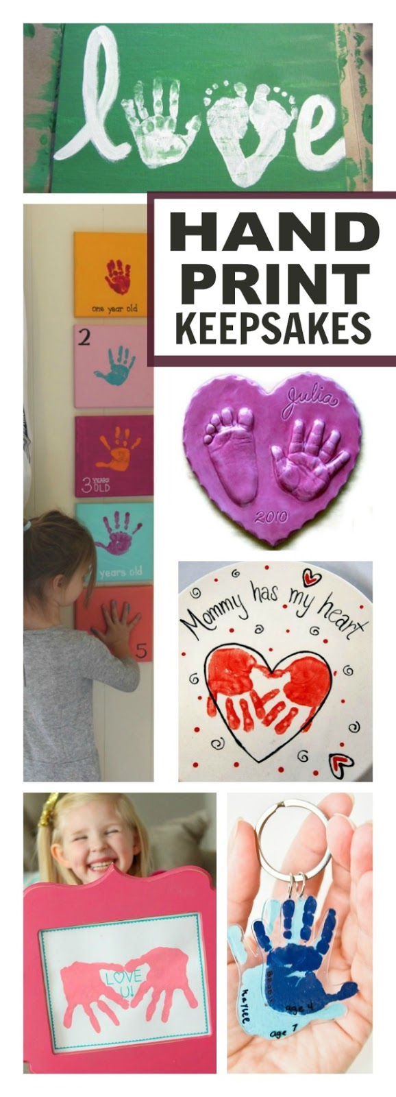 24 HANDPRINT KEEPSAKES YOU WILL LOVE - these make great gifts!