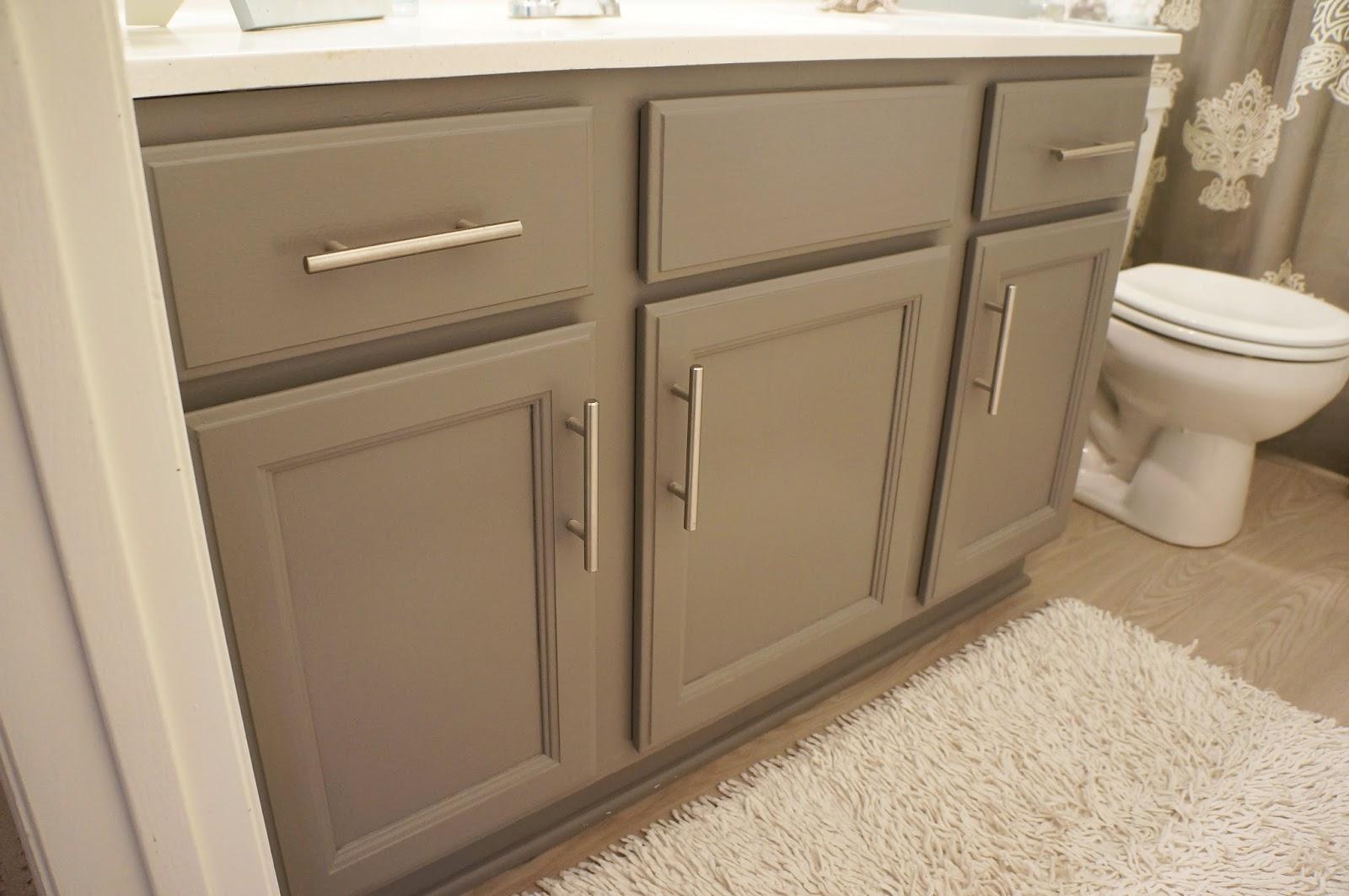 It 39 s a pretty prins life bathroom redo the before - How do you paint bathroom cabinets ...