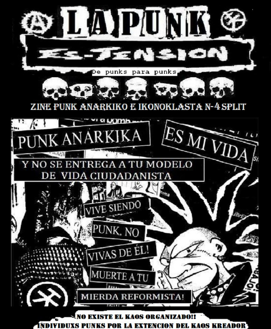 LA PUNK ES TENSION N4 (SPLIT)
