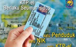 E-KTP (KTP Elektronik) berlaku Seumur Hidup