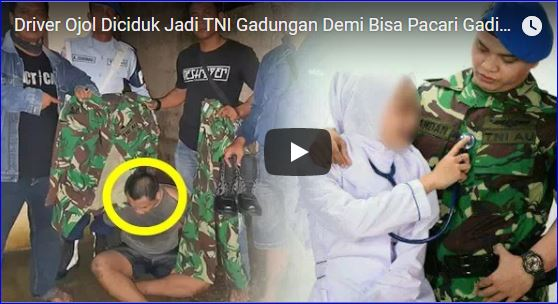 Demi Bisa Pacari Gadis Idaman, Driver Ojol Nyamar Jadi TNI Gadungan Ketahuan Setelah 3 tahun