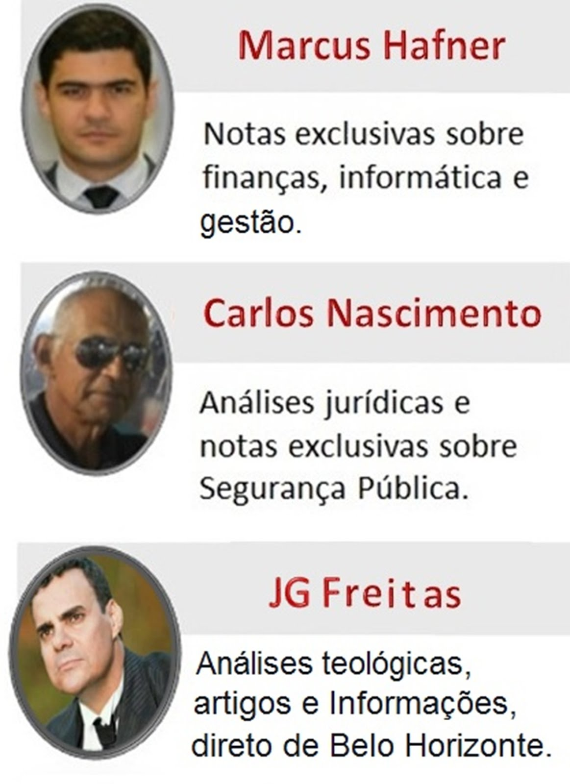 COLUNISTAS DO BLOG