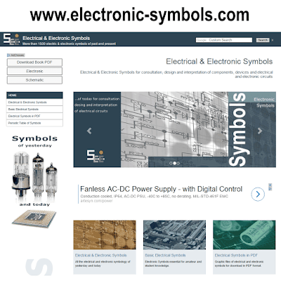 New responsive Website design of www.electronic-symbols.com