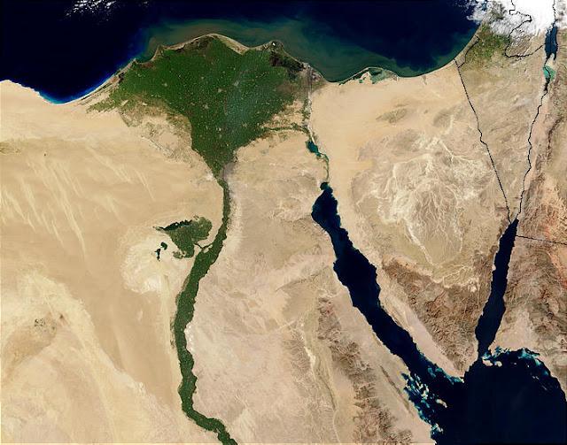 Immagine Satellitare Nilo Egitto