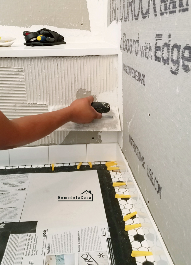 Bathroom Renovation Tiling The Shower Amp From Bathtub To