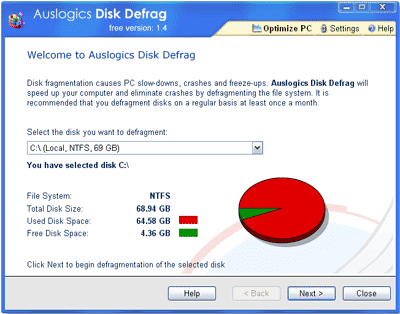 Download Auslogics Disk Defragmenter