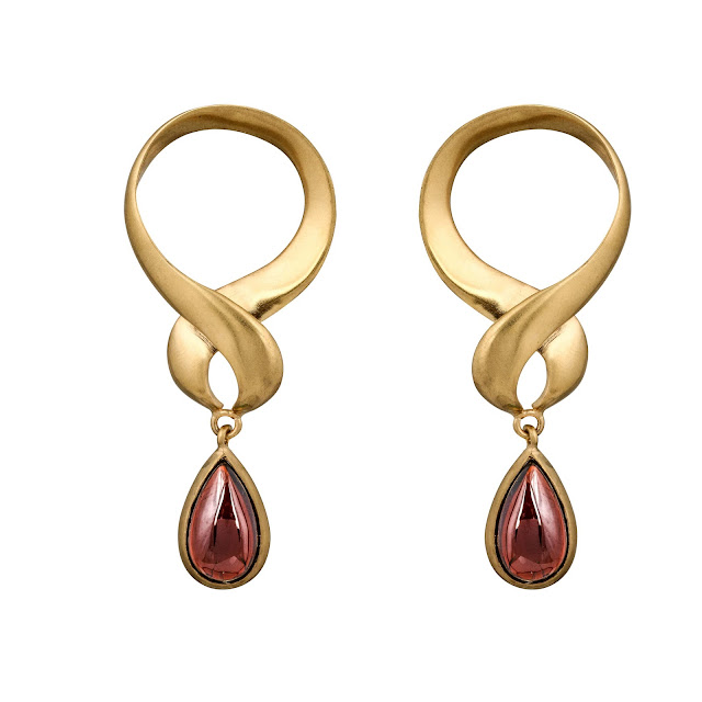 GARNET WINDING EARRING by Studio Tara available at Velvetcase.com Rs 12,649