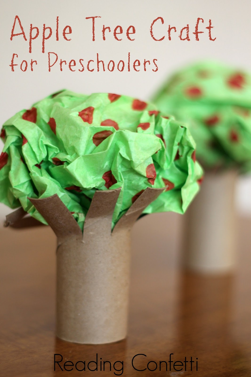 Easy Apple Tree Preschool Craft ~ Reading Confetti