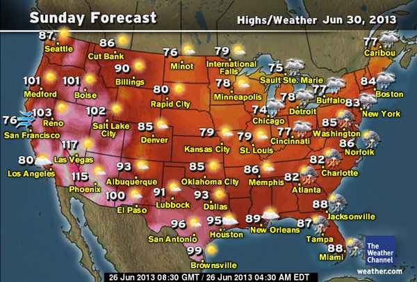 Daily Weather Newsletter: 2013-06-30