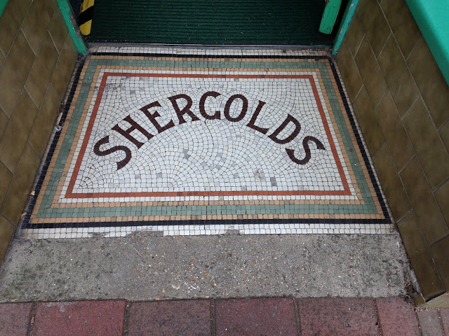 Doorway mosaic, Cowes, Isle of Wight