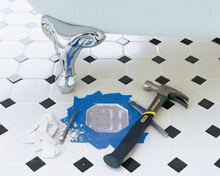 Chỉ dẫn tự sửa gạch lát nền bị vỡ