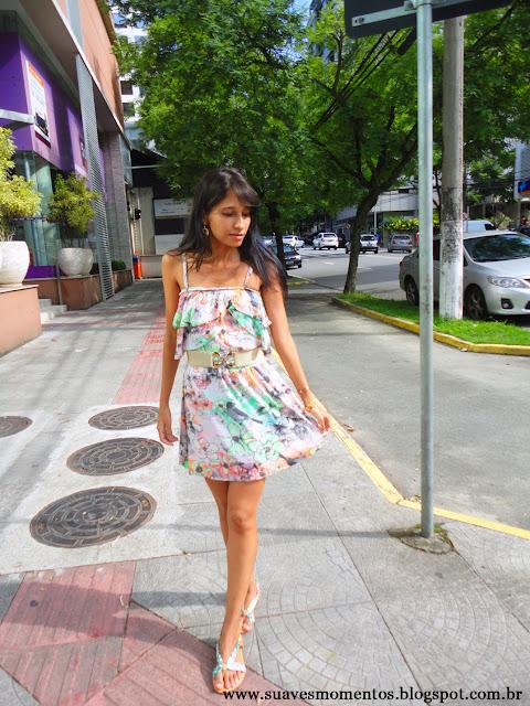 look de verão, vestido