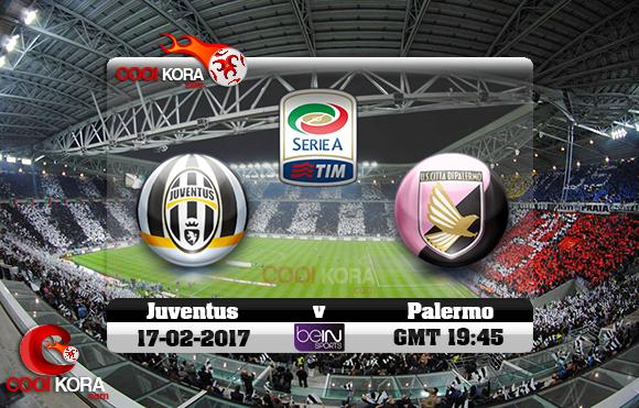 مشاهدة مباراة يوفنتوس وباليرمو اليوم 17-2-2017 في الدوري الإيطالي