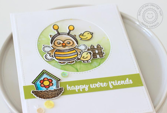 Sunny Studio Stamps: Happy Owl-o-ween and A Bird's Life Friendship Card by Nancy Damiano