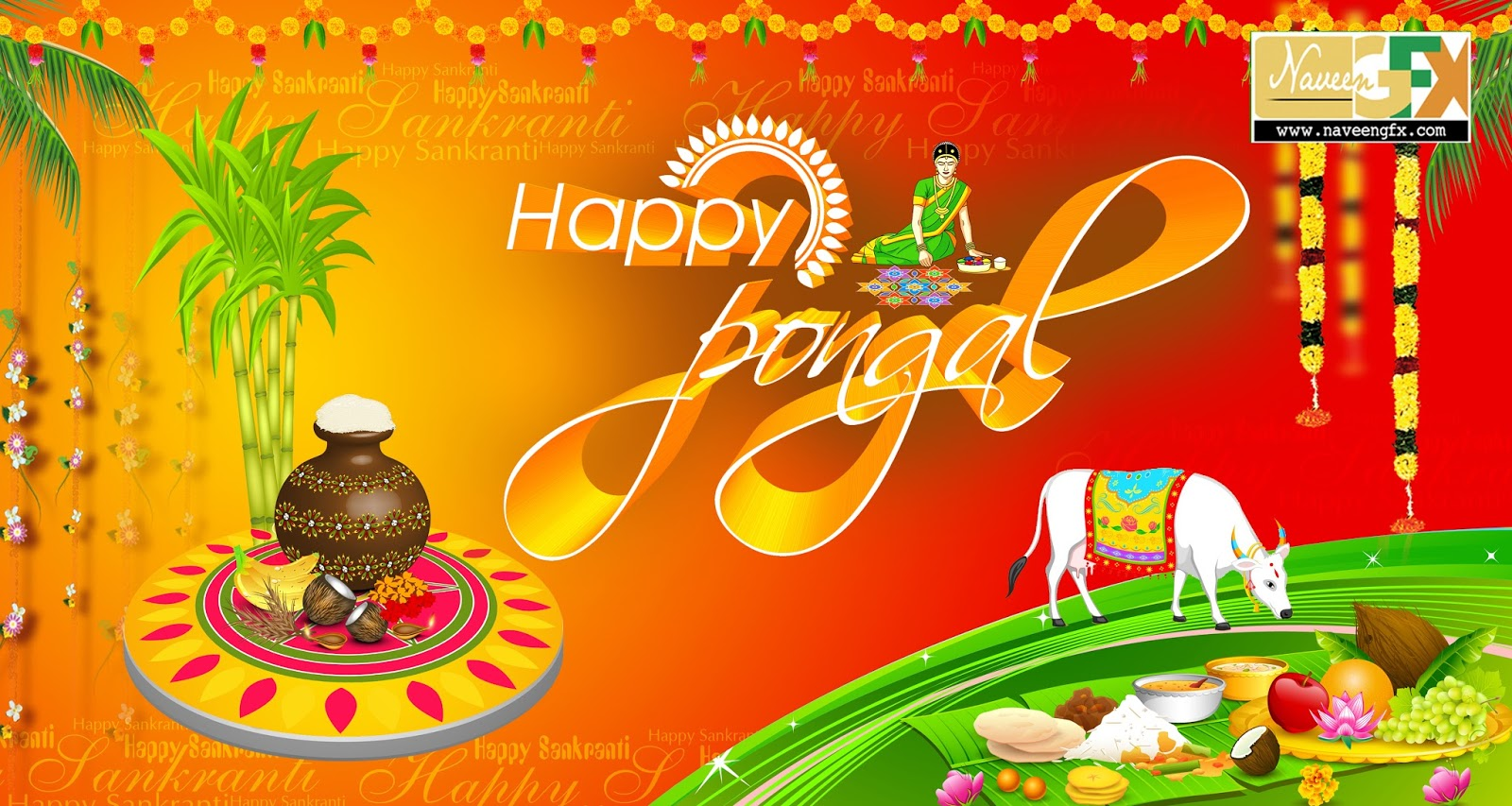 Happy Pongal Greetings Psd Template Free Downloads Naveengfx