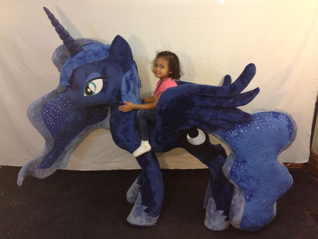 Equestria Daily Mlp Stuff Giant Luna Plushie Arrives Five Feet