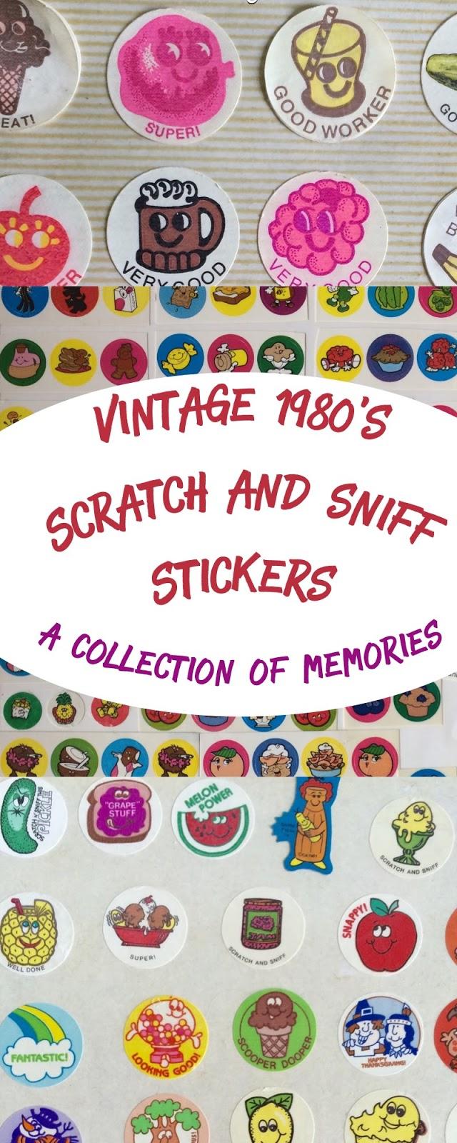 Chocolate Excellent Scent Vintage 80s Matte Smurf Scratch /& Sniff Stickers