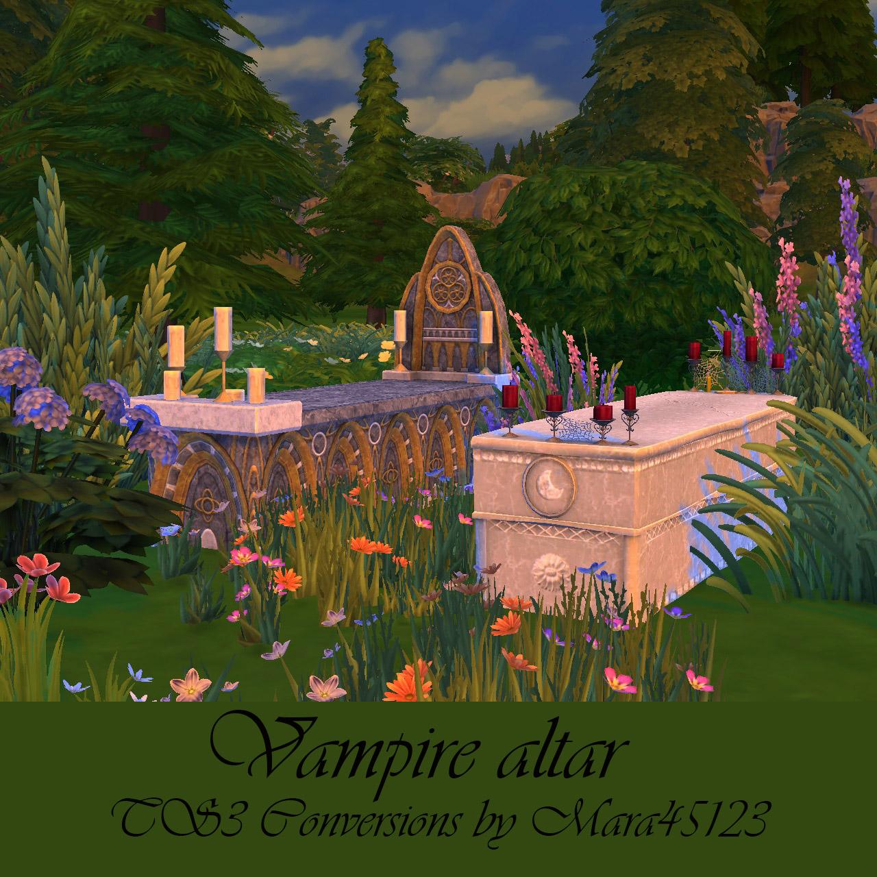 Wedding Altar In Sims 3: My Sims 4 Blog: TS3 Vampire Altar Conversions By Mara45123