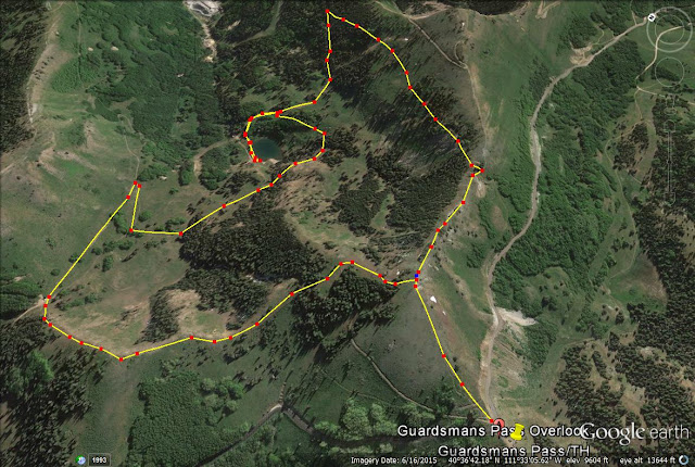 Hiking to Shadow Lake via Guardsmans Pass trail map