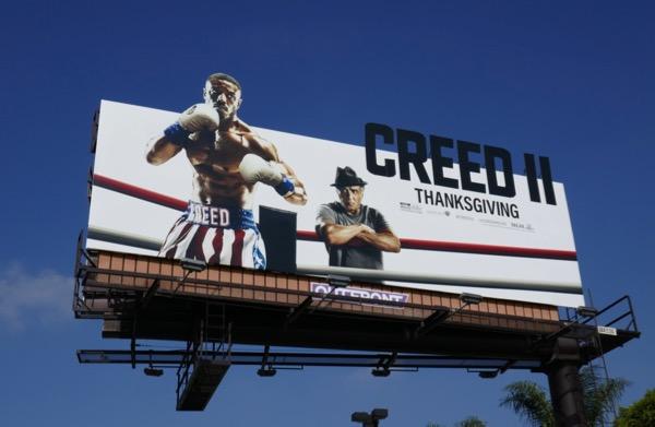 Creed II movie cut-out billboard