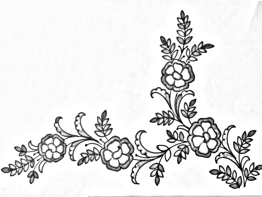 Embroidery Flowers Design Drawing And Sketches Floral Designs