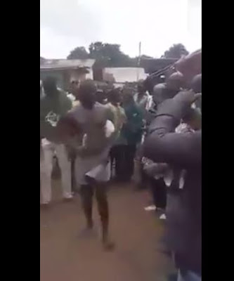 (Watch Video): Man Caught Sleeping with Little Boys in Anambra State Paraded and Disgraced in Public