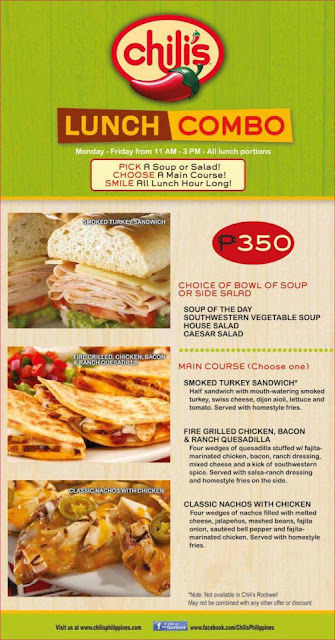 Chilis Restaurant Lunch Menu